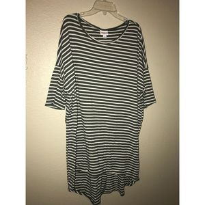 Army green and white striped Irma